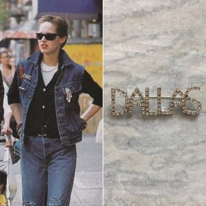 '80s / Dallas Rhinestone Brooch